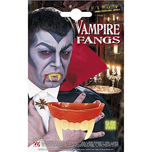 Widmann Denti da Vampiro Fosforescenti per Adulti, Verde, Taglia Unica, 4096V