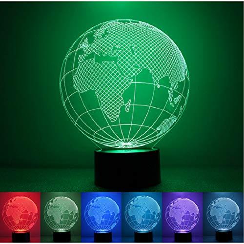 LNOFG Veilleuse 3D Visual World LED Veilleuse 7 Couleurs Changer de Mode Enfants Bureau Décoration Gadget Cadeau Jouet