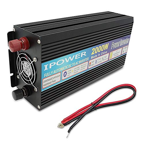 YHDQ Car Power Inverter WECHSELRICHTER DC-AC 12 V bis 230 V 240 V mit Sanftanlauf, Voltage Display Auto Caravan Camping Boot DC 12V Car Power Inverter