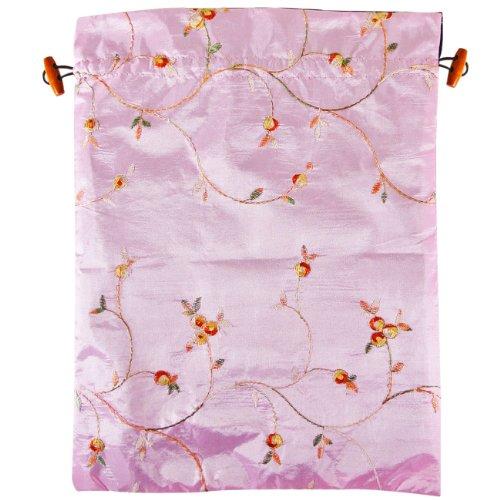 Wrapables Schöne Bestickte Seide, Reisetasche für Dessous und Schuhe, Pink