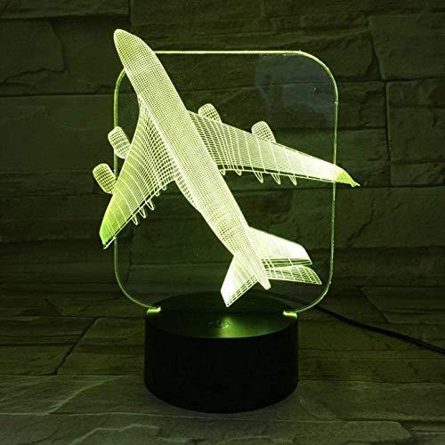 Vliegtuig kinderen nachtlampje 7 kleuren veranderende baby boy slaapkamer decoratie tafel LED nachtlamp vliegtuigen