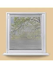 ECD Germany Persiana veneciana aluminio 140 x 175 cm - plata - láminas de aluminio - Protección luz y privacidad - Para ventanas y puertas - Incluye todas las piezas de montaje - Cortina plisada