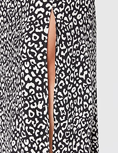Marca Amazon - find. Falda Larga para Verano Mujer, Gris (Printed), 46, Label: XXL