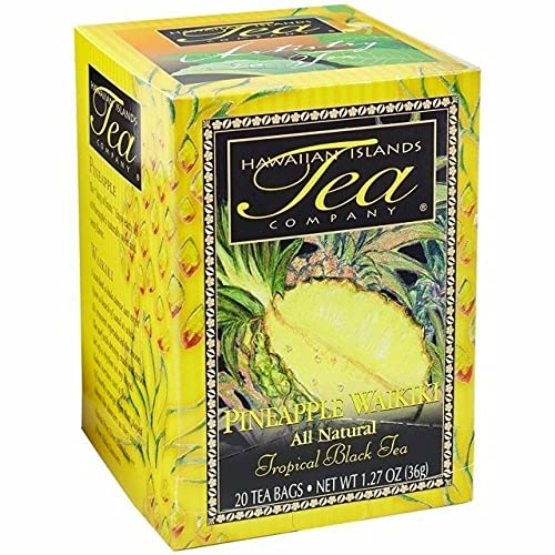 Hawaiian Islands Pineapple Waikiki Tropical Black Tea, All Natural - 20 Teabags
