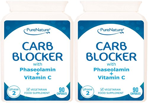 180 Carb Blocker with White Kidney Bean Extract & Phaseolamin Phase 2 High...