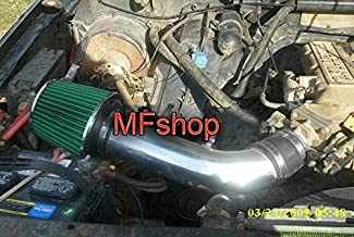 Performance Air Intake Filter System for 1986 1987 1988 1989 1990 1991 1992 Ford Ranger With 2.9L V6 OHV Engine (Black Accessories with Green Filter)