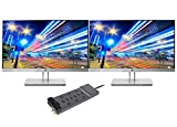 HP EliteDisplay E233 23 Inch Full HD Screen LED 2-Pack Display Bundle with 12-Outlet Professional SurgeMaster
