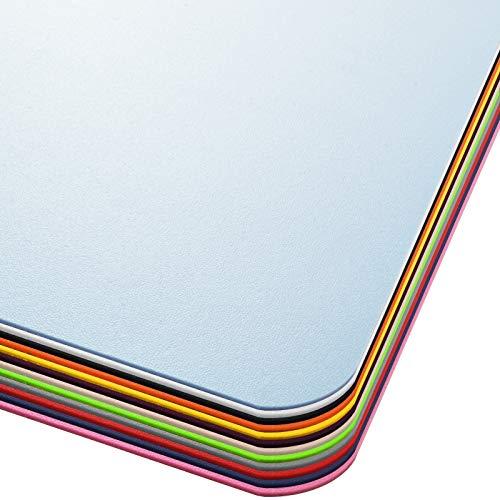 Office Marshal® Bodenschutzmatte in Trendfarben | 75 x 120 cm für Hartböden | ohne schädliche Weichmacher und PVC | Größe und viele Farben zur Auswahl (Hellblau)