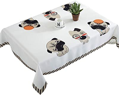 WYGG Rectangular Tablecloth, Cotton and Linen Hotel Tablecloth Home Multi-Function Family Table Decoration