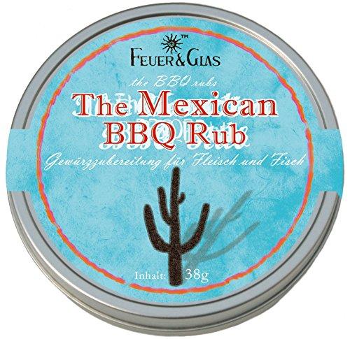 Mexikanische Gewürzmischung zum marinieren für Fleisch und Fisch -Gourmetgewürzmischung für den perfekten Grillabend – Mexican BBQ Rub – von Feuer und Glas (38g)
