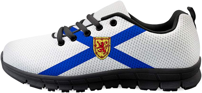 Owaheson Lace-up Sneaker Training shoes Mens Womens Nova Scotia Flag