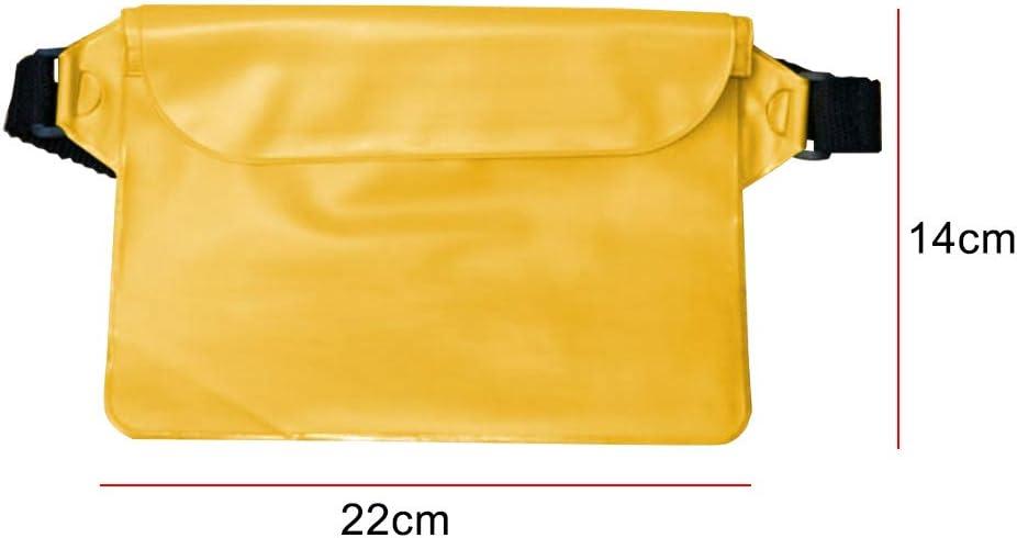 Steellwingsf Ceinture réglable étanche Grande capacité Sac de Rangement Organisateur Transparent Orange