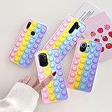 PangTuZiYin Redmi Note 10s 9s 8 PRO Push Bubble Fidget Toy Case Cover Morbida per Xiaomi 11 9 Mi 9T K30 K40 Poco F3 Antistress sensoriale