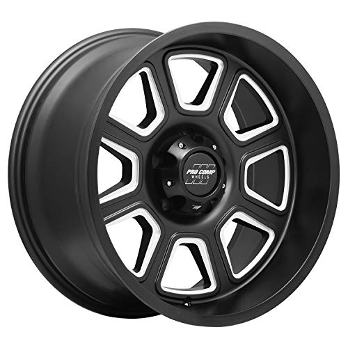 Pro Comp Wheels Gunner Black Wheel with Brushed Finish (17 x 9. inches /5 x 5 inches, -6 mm Offset)