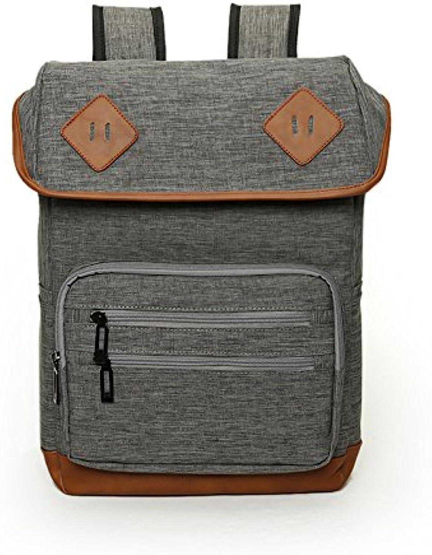 Britische simple mode Leinwand Umhängetaschen paar Männer und und und Frauen outdoor travel Rucksack Notebooktasche student Tasche, grau B072LK1VX7  Leidenschaftliches Leben b9a9a0