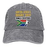 Lsjuee Afrique du sud Rugby World Champions Classique rétro Cowboy Chapeau Casquette de Baseball réglable Chapeau extérieur