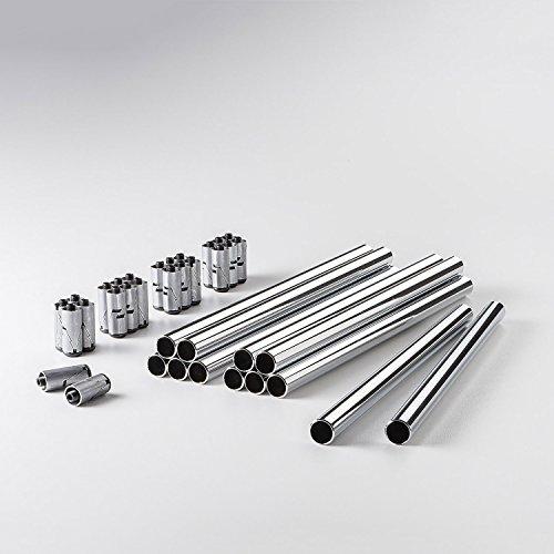Preisvergleich Produktbild Swissmobilia Bundle 12 Rohr mit 24 Konnektoren für USM Haller,  Diverse Systemmaßen,  Chrom