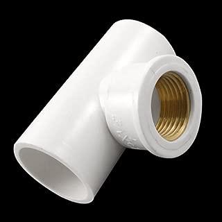 uxcell ティーコネクタ 三又ホース Y型 25mmx25mm PVC ホワイト 真鍮