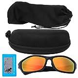 【𝐎𝐟𝐞𝐫𝐭𝐚𝐬 𝐝𝐞 𝐁𝐥𝐚𝐜𝐤 𝐅𝐫𝐢𝐝𝐚𝒚】 Gafas de Sol con protección UV, Gafas de Ciclismo Protección de los Ojos Gafas de Sol de Ciclismo de Moda, Deportes de montañismo(Black Frame Red Film)