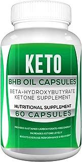 Keto BHB Oil Capsules for Weight Loss - Green Keto BHB Oil Powder Capsules (Beta-Hydroxybutyrate) - Keto BHB 800 Pills (60 Capsules, 1 Bottle)