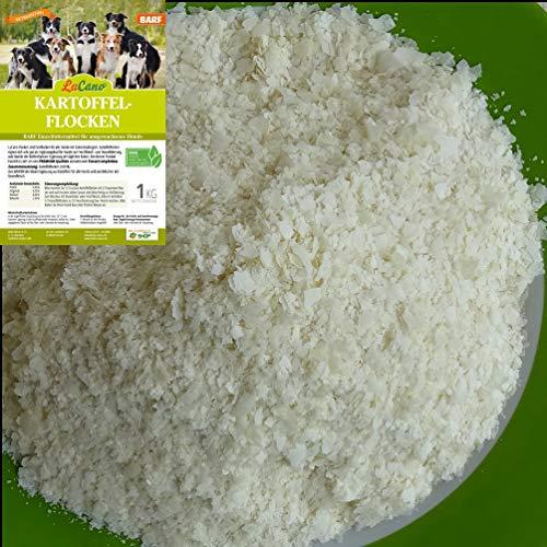 1 kg LuCano Kartoffelflocken für Hunde   Barf Ergänzungsfuttermittel - Ergänzungsfutter Barf Hundefutter Barfflocken Barf Hundeflocken Hund Flocken