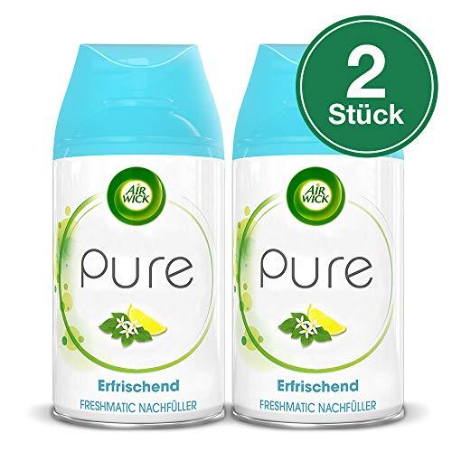 Air Wick Freshmatic Max Automatisches Duftspray (Nachfüller Pure Erfrischend), Zitronenblüte, 2er Pack (2 x 250 ml)
