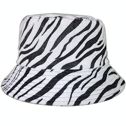 Bucket Hat Chapeau Chapeau De Seau Imprimé Rayé Chapeau De Pêcheur Chapeau De Voyage en Plein Air Hip Hop Casquette De Soleil pour Hommes Femmes Blanc