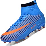 Brfash Botas de Fútbol Spike Profesionales Hombre Adulto Training High-Top Zapatos...