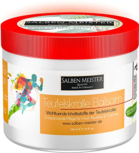 Salben Meister Teufelskralle Balsam | Fördert die Durchblutung mit Aloe-Vera, Lavendelöl, Rosmarinöl | Teufelskralle Creme | Teufelskralle Salbe Mensch | Teufelskralle für Mensch 200 ml