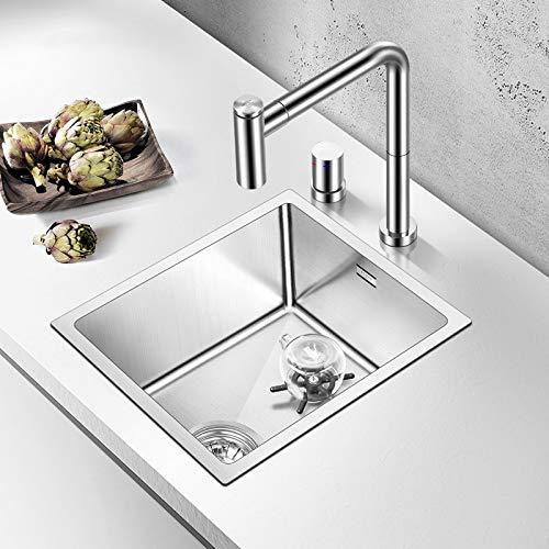 JJZXD SUS304 Hecha a Mano del Fregadero de Cocina de usos múltiples de rociadores de Agua con escurridor y golpecito de la Cocina