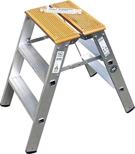 ILLER-LEITER Geis&Knoblauch Montagetritt, beidseitig 56703 2x3 Stufen Sprossenleiter 4039665012215