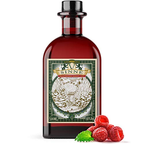 V-SINNE Gin | Raspberry Magic Gin - Feel the Black Forest | Premium Gin | Ideal als Gin Tonic & Cocktail | Handcrafted Gin | 31 Botanicals | 40% 500ML