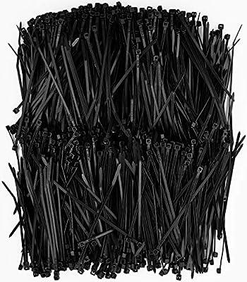Premium Heavy Duty Zip Ties   Black Nylon Cable Ties   XGS Wire Ties by APTronix