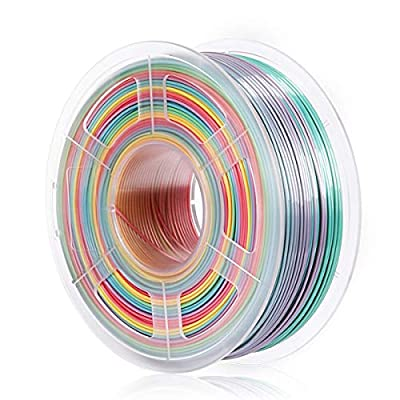 PLA Filament Multicolor Rainbow, 1.75mm 3D Printer Filament for 3D Printer& 3D Pen, -0.02 mm, 1KG Rainbow