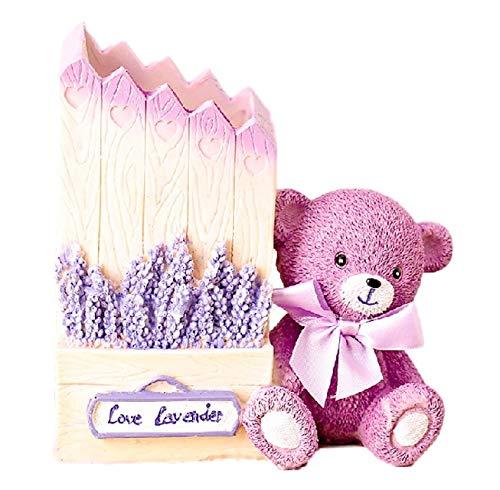 [クイーンビー] ペンスタンド ペン 立て クマ かわいい おしゃれ 卓上 収納 ケース インテリア デスク アクセサリー 文具 文房具 鉛筆 事務用品 プレゼント (ピンク)