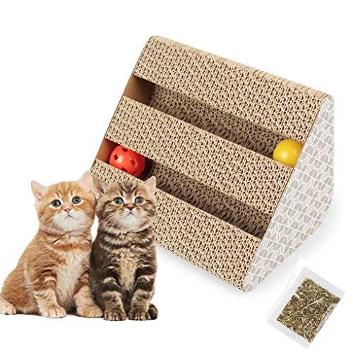 Old Tjikko Katzen Kratzbrett,Kratzbrett für Katzen mit Katzenminze,Kratzmöbel,Katzenspielzeug Beschaftigung,Kratzmatte Kratzbretter aus Recycebar Wellpappe (11\'\' x 9.4\'\' x 7\'\')