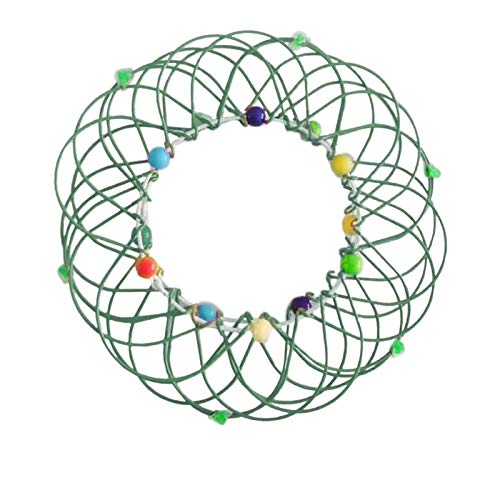jieGorge Decompression Flexible Basket Soft Steel Magic Iron Ring Ornament, Home DIY for Easter Day (GN)