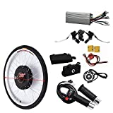DIFU Kit de conversión para rueda trasera de bicicleta eléctrica, 48 V, 1000 W, 28 pulgadas, kit de conversión para bicicleta eléctrica