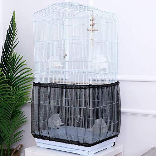 NXL 2 Piezas Funda para Jaulas De Pájaros Protector/Cubierta/Red para Jaulas Aves Malla De Semillas para Jaulas De Loros, Agapornis U Otras Aves