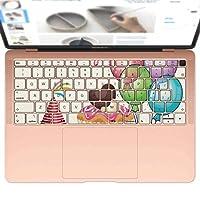 igsticker MacBook Air 13inch 2018 専用 キーボード用スキンシール キートップ ステッカー A1932 Apple マックブック エア ノートパソコン アクセサリー 保護 013454 風船 ケーキ 誕生日