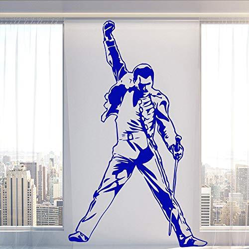 Vintage Freddy Mercury Queen Band Música Rock Singer Superstar Vinilo Calcomanía Papel tapiz Etiqueta de la pared Ventiladores Habitación de niño Decoración de dormitorio Arte mural cartel