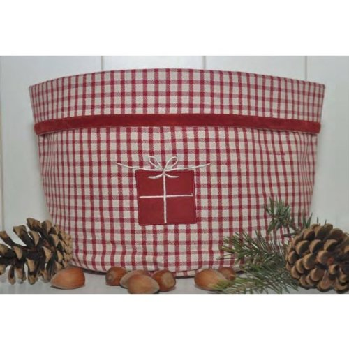 TILDA stoffkorb rouge/blanc à carreaux vichy 17 x 30 cm