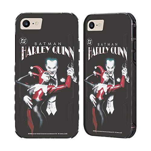 Head Case Designs Ufficiale Joker Batman: Harley Quinn 1 Arte Personaggi Cover Nera Evolution Compatibile con Apple iPhone 7 / iPhone 8 / iPhone SE 2020
