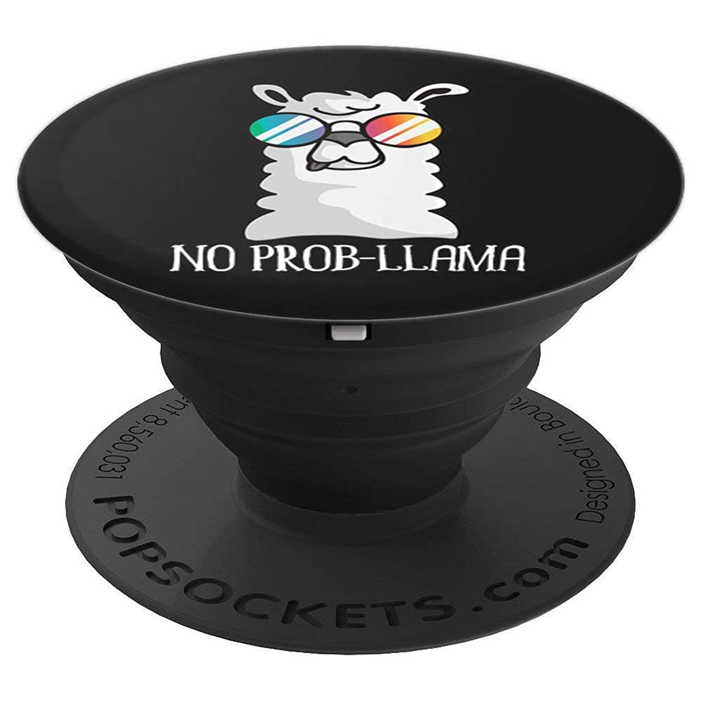 No Prob-Llama No Problem Cute Funny Cool Llama Alpaca Gift - PopSockets Grip and Stand for Phones and Tablets oxb7402640