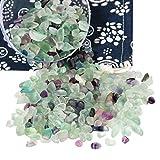 Orientrea 500 Grammi di Cristallo di Fluorite schiacciato Naturale, Chip di Cristalli di guarigione di Patatine Fritte al Fluorite Sfuso, Pietre preziose di Cristallo schiacciate per Artigianato