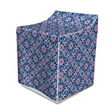 Lunarable Mandala Washer Cover, Esoteric Flowers Digital Occult Motif with Wavy Lines Print, Decorative Accent for Laundromats, 29' x 28' x 40', Purple Blue
