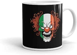 Irish Scary Killer Clown Halloween Costume | Evil Horror Movie Mug