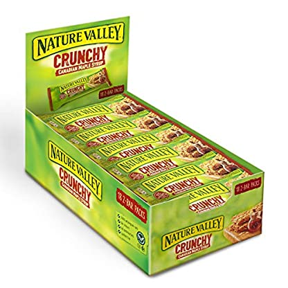 Nature Valley Crunchy Canadian Maple Syrup Cereal Bars 42g (Pack of 18 bars) 1