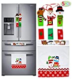 JOYIN 5 Pieces Christmas Kitchen Appliance Handle Covers for Kitchen Refrigerator Microwave Oven Dishwasher Decoration, Xmas Indoor Dcor, Party Favor Supplies.