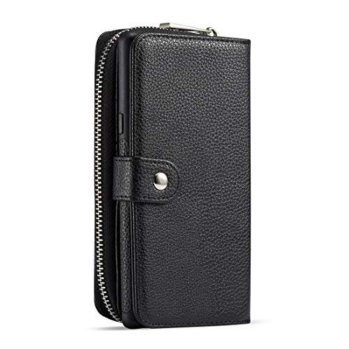 JIAHENG Phone Case Case For Samsung Galaxy Note9 Leather Wallet Zipper Wallet,Removable Magnetic Matte TPU Phone Case,with ID & Credit Card Pocket and Detachable Wrist Strap PU Leather Cover Shel